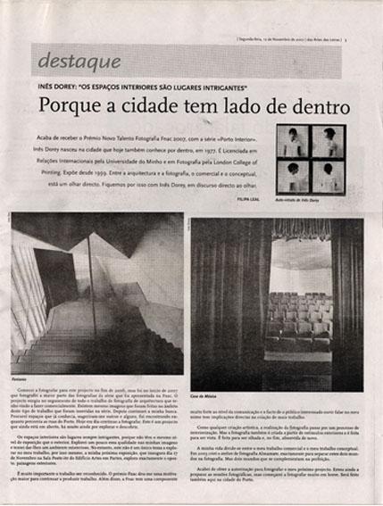 artes e letras. 12.11.2007